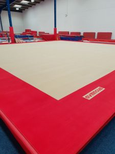 Gymnastic club floor cleaning